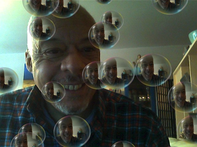Adam with bubbles
