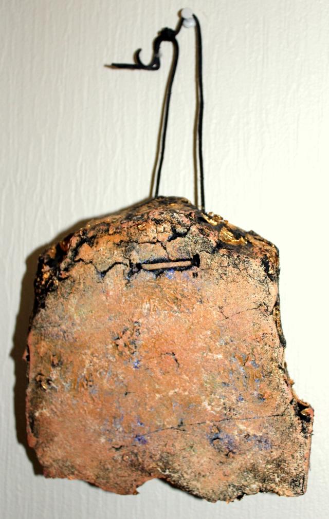 Stone fragment. Oil painting on styrofoam (disposable art).