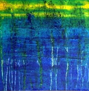 """""""Cracking up (Craquelure)"""", oil on canvas, 40 x 40 cm."""