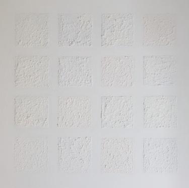 """White night no. 1"", oil on canvas/mixed media, 50 x 50 cm."