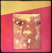 """""""Don't Ask"""", oil on canvas, 40 x 40 cm., self-portrait."""