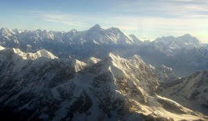 (Photo by Adam Donaldson Powell, taken from a small plane over the Himalayas)