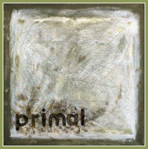 Gone primal, oil on canvas, 30 x 30 cm., Adam Donaldson Powell, 2014.