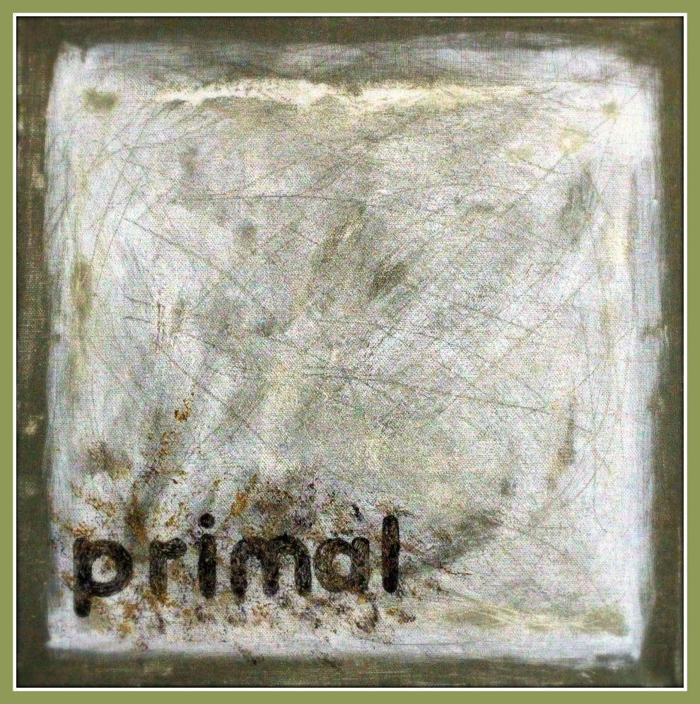 Gone primal, oil on canvas, 30 x 30 cm., Adam Donaldson Powell, 2014.