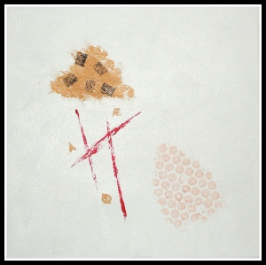 Bokstavelig talt (literally speaking), oil on canvas, 30 x 30 cm., 2015.