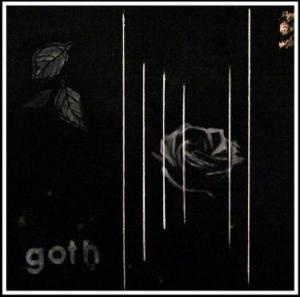 Goth, oil on canvas, 40 x 40 cm.