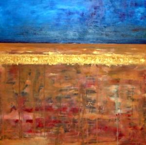 Y yo pienso aun en ti, oil on canvas, 100x100 cm.