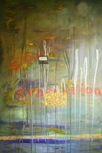 Soul evacuation, oil on canvas, 100x150x8 cm.