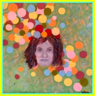 """""""Forever blowing bubbles"""", oil on canvas, 40 x 40 cm."""