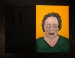 Les rêveries et les confessions personnelles, 40 x 30 cm., oil on canvas, 2020.